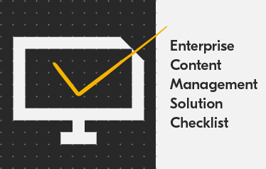 Kyocera enterprise content management (ECM) solution checklist